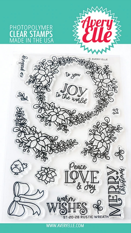 Avery Elle Clear Stamps RUSTIC WREATH ST-20-28 zoom image