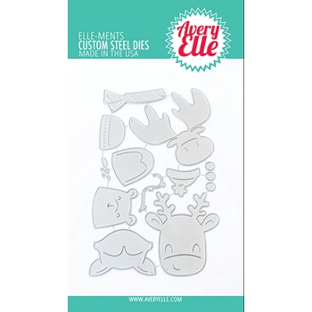 Avery Elle Steel Dies PEEK A BOO HOLIDAY TAG TOPPERS D-09-10