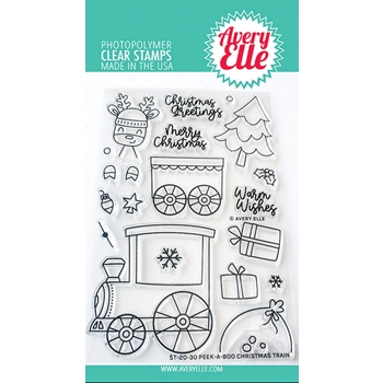 Avery Elle Clear Stamps PEEK A BOO CHRISTMAS TRAIN ST-20-30