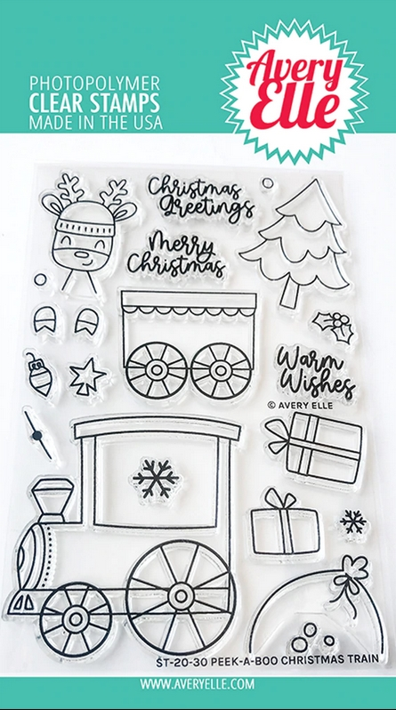Avery Elle Clear Stamps PEEK A BOO CHRISTMAS TRAIN ST-20-30 zoom image