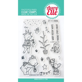 Avery Elle Clear Stamps O TINY TREE ST-20-33