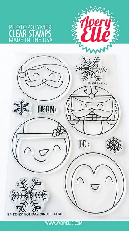 Avery Elle Clear Stamps HOLIDAY CIRCLE TAGS ST-20-27 zoom image
