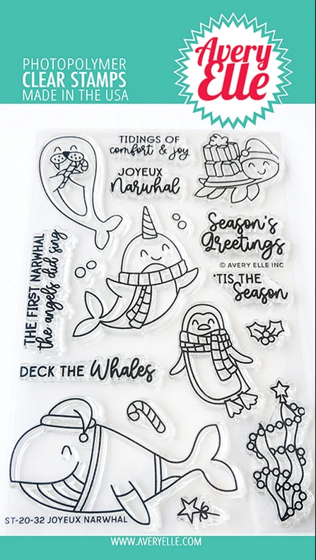 Avery Elle Clear Stamps JOYEUX NARWHAL ST-20-32 zoom image
