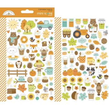 Doodlebug PUMPKIN SPICE MINI ICONS Stickers 6969