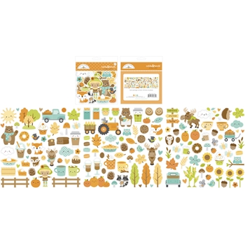 Doodlebug PUMPKIN SPICE ODDS AND ENDS Ephemera Die Cut Shapes 6985