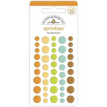 Doodlebug FALL ASSORTMENT Enamel Dot Sprinkles 6932