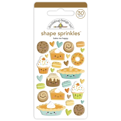 Doodlebug BAKE ME HAPPY Shape Sprinkles Pumpkin Spice 6934 Preview Image