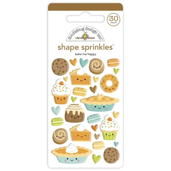 Doodlebug BAKE ME HAPPY Shape Sprinkles Pumpkin Spice 6934