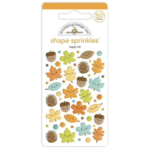 Doodlebug HAPPY FALL Shape Sprinkles Pumpkin Spice 6935 Preview Image