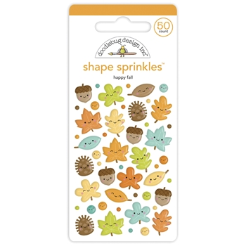 Doodlebug HAPPY FALL Shape Sprinkles Pumpkin Spice 6935