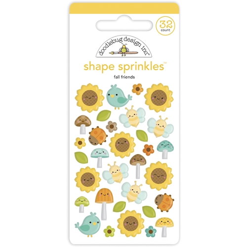 Doodlebug FALL FRIENDS Shape Sprinkles Pumpkin Spice 6936 Preview Image