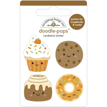 Doodlebug FALL TREATS Doodle Pops 3D Stickers 6949