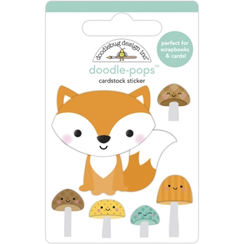 Doodlebug FOX AND FRIENDS Doodle Pops 3D Stickers 6951