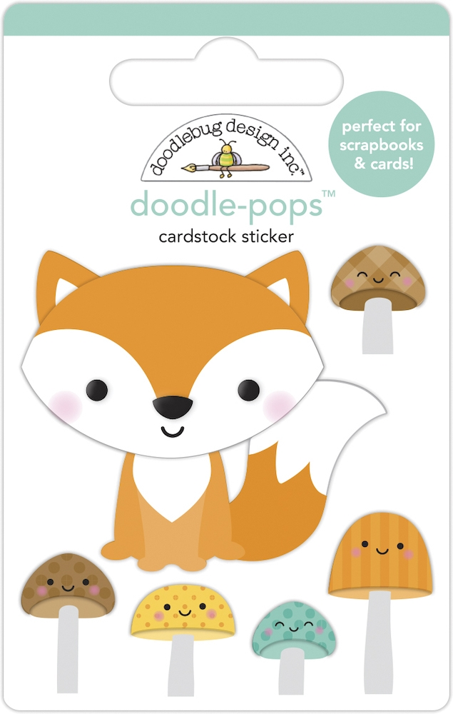 Doodlebug FOX AND FRIENDS Doodle Pops 3D Stickers 6951 zoom image