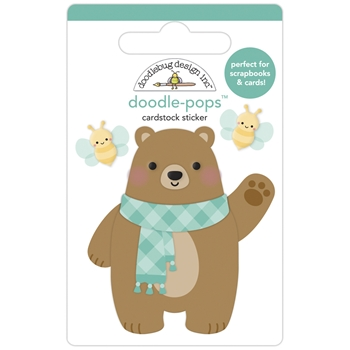 Doodlebug BEARY CUTE Doodle Pops 3D Stickers 6954