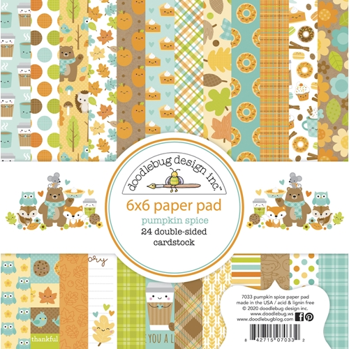 Doodlebug PUMPKIN SPICE 6x6 Inch Paper Pad 7033 Preview Image