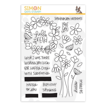 Simon Says Clear Stamps FREESTYLE FLOWERS sss202091c