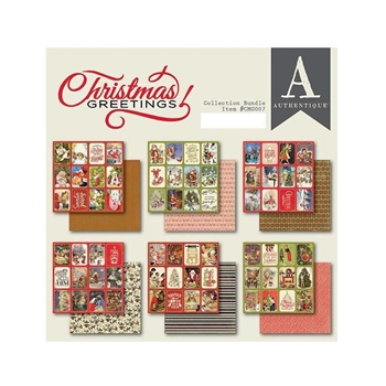Authentique CHRISTMAS GREETINGS 6 x 6 Paper Pad cmg007