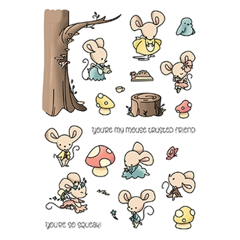 LDRS Creative MOUSE TRUSTED FRIEND Clear Stamps 3247