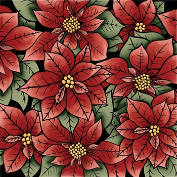 LDRS Creative POINSETTIA Clear Stamp 3261