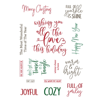 LDRS Creative ELEGANT HOLIDAY WISHES Clear Stamps 3257