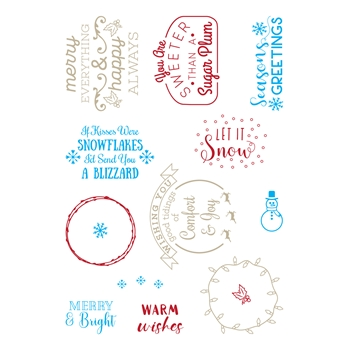 LDRS Creative SNOWFLAKES AND BLIZZARDS Clear Stamps 3256
