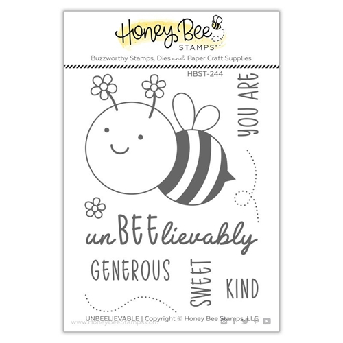 Honey Bee UNBEELIEVABLE Clear Stamp Set hbst244 Preview Image