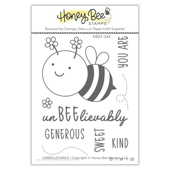 Honey Bee UNBEELIEVABLE Clear Stamp Set hbst244
