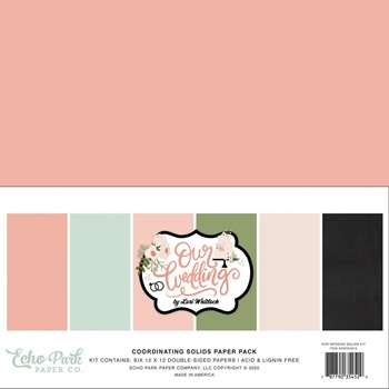 Echo Park OUR WEDDING 12 x 12 Solids Paper Pack ow224015