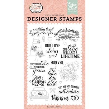 Echo Park OUR LOVE STORY Clear Stamps ow224045