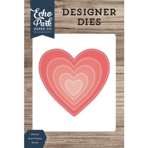 Echo Park STITCHED HEART NESTING Die Set eppdie1374* Preview Image