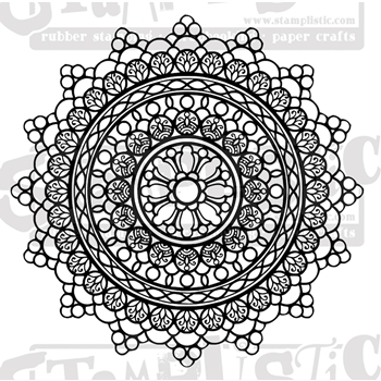 Stamplistic Cling Stamp CIRCLE OF LACE j200701