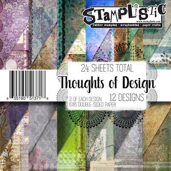 Stamplistic THOUGHTS OF DESIGN 6x6 Paper 13718