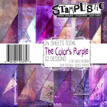 Stamplistic THE COLORS PURPLE 6x6 Paper 13756