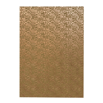 Tonic ROSE GOLD BLOSSOM A4 Craft Perfect Foiled Kraft Card 9350e