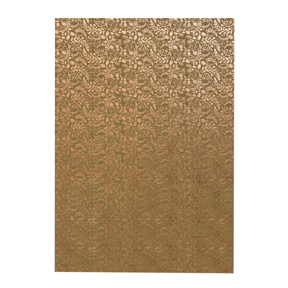 Tonic ROSE GOLD BLOSSOM A4 Craft Perfect Foiled Kraft Card 9350e zoom image