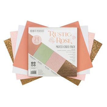 Tonic RUSTIC ROSE 6 x 6 Mixed Card Pack 9404e