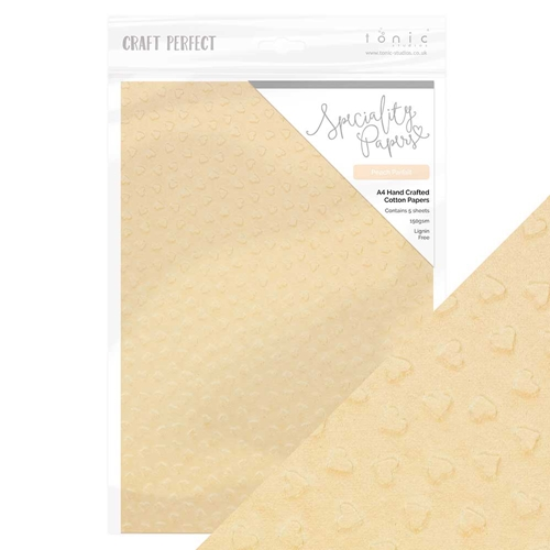 Tonic PEACH PARFAIT Hand Crafted Embossed Cotton A4 Paper Pack 9890e Preview Image