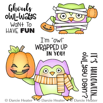 Darcie's OWL YOU DOIN' Clear Stamp Set pol471