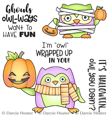 Darcie's OWL YOU DOIN' Clear Stamp Set pol471 zoom image
