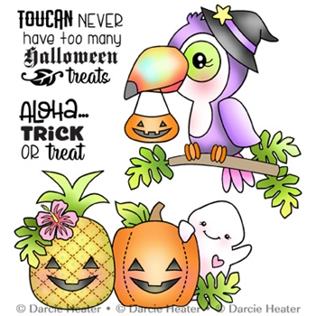 Darcie's TOUCAN HALLOWEEN Clear Stamp Set pol472