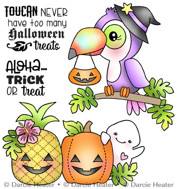 Darcie's TOUCAN HALLOWEEN Clear Stamp Set pol472 zoom image