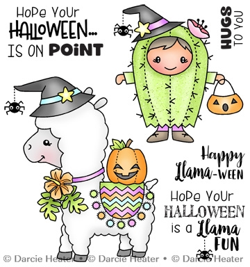 Darcie's LLAMA HALLOWEEN Clear Stamp Set pol473 Preview Image