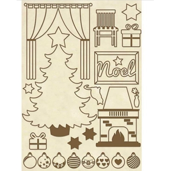 Stamperia CHRISTMAS HOME Wooden Shapes klsp043