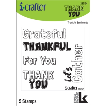 i-Crafter THANKFUL SENTIMENTS Clear Stamps 222124