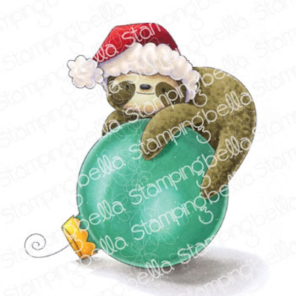 Stamping Bella Cling Stamp SLOTH ORNAMENT eb1000 zoom image