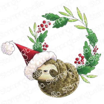 Stamping Bella Cling Stamp SLOTH WREATH eb1001