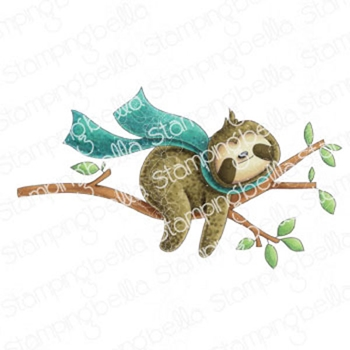 Stamping Bella Cling Stamp SLOTH ON A BRANCH eb1003