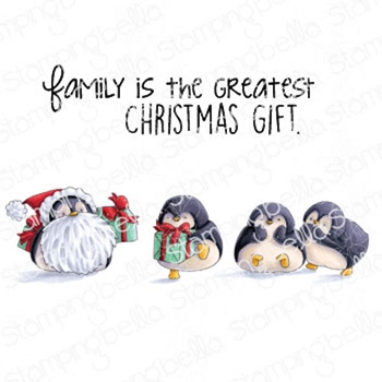 Stamping Bella Cling Stamps PENGUIN FAMILY eb997