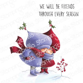 Stamping Bella Cling Stamps BUNDLE GIRL WINTER FRIENDS eb992